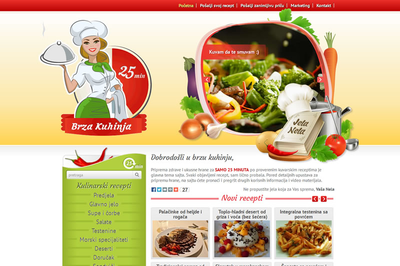 Brza Kuhinja - Custom Website Portal - Food Recepies