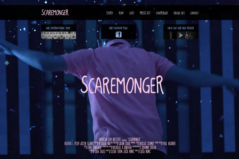 SCAREMONGER - C/O American Film Institute - Website Design and Development